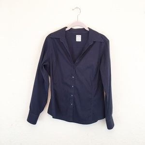 Brooks Brothers | Petite Navy Career Button Down